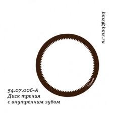 54.07.006-А Диск трения с внутренним зубом
